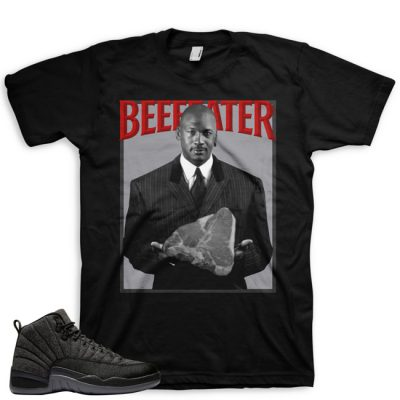 Jordan 12 Wool Sneaker Match Shirt | Beefeater Black