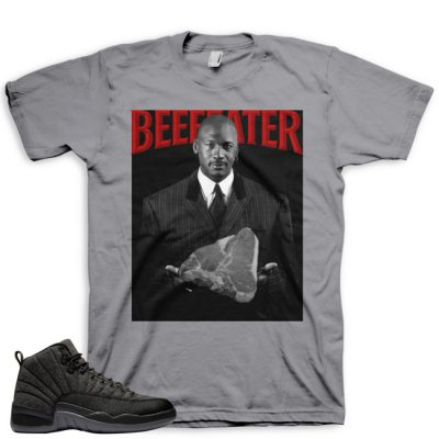 Jordan 12 Wool Sneaker Match Shirt | Beefeater Grey