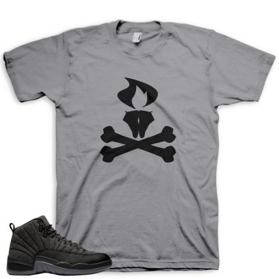 Jordan 12 Wool Sneaker Match Shirt | Cheffy Litkickz Grey