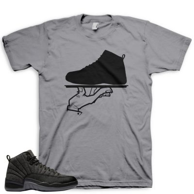 Jordan 12 Wool Sneaker Match Shirt | Now Serving Grey
