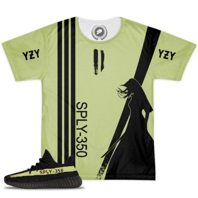 Yeezy Boost 350 V2 Blk/Green Match T-Shirt V1.2