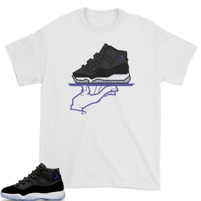 Space Jam 11 Match T-Shirt | Now Serving Mas White