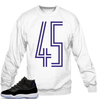Space Jam 11 Match Sweatshirt | 45 White