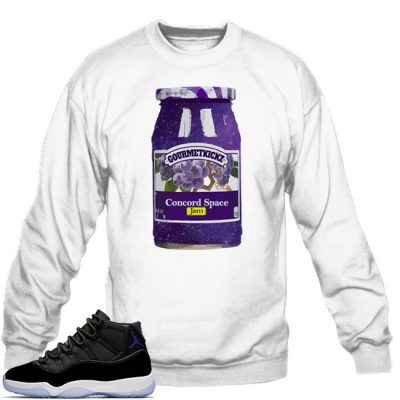 Space Jam 11 Match Sweatshirt | GourmetKickz Space Jam White