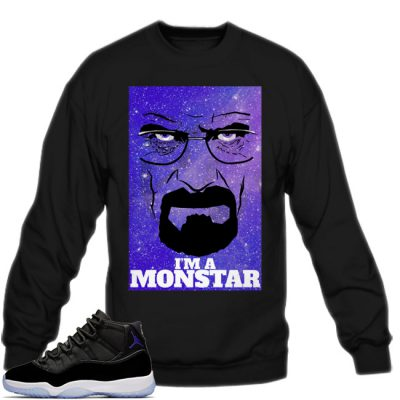 Space Jam 11 Match Sweatshirt | I'm A Monstar Black