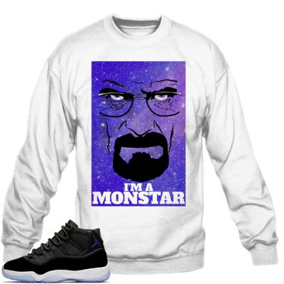 Space Jam 11 Match Sweatshirt | I'm A Monstar White
