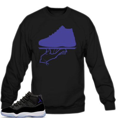 Space Jam 11 Match Sweatshirt | Now Serving Black