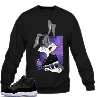 Space Jam 11 Match Sweatshirt | Spaced Out Black