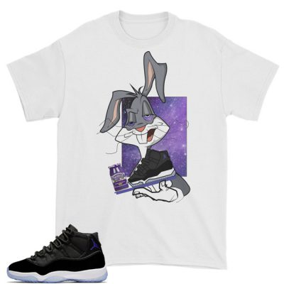 Space Jam 11 Match T-Shirt | Spaced Out Bugs White